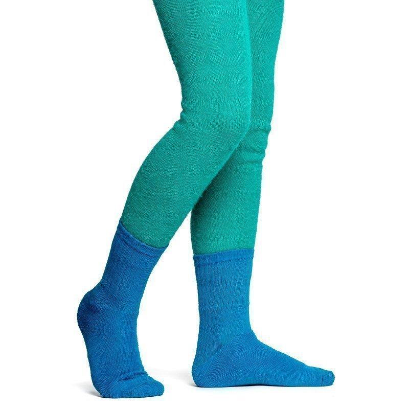 Woolpower Kids Socks 200 21 Dolphine Blue