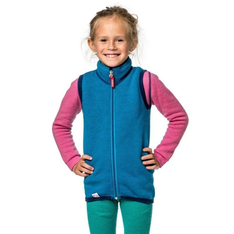Woolpower Kids Vest 400 110-116 Dolphine Blue