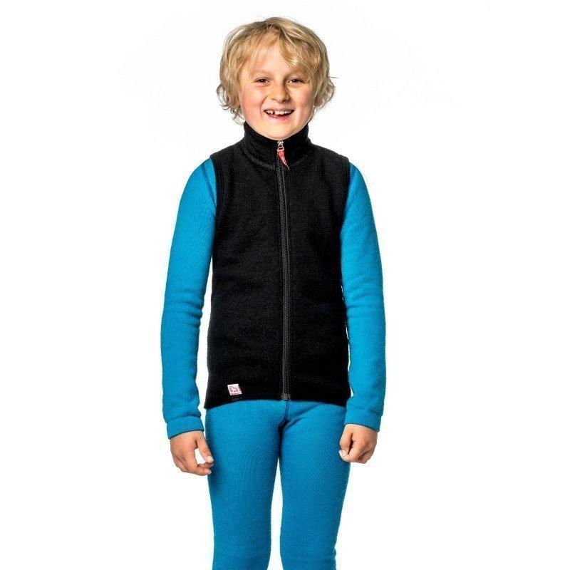 Woolpower Kids Vest 400 110-116 Pirate Black