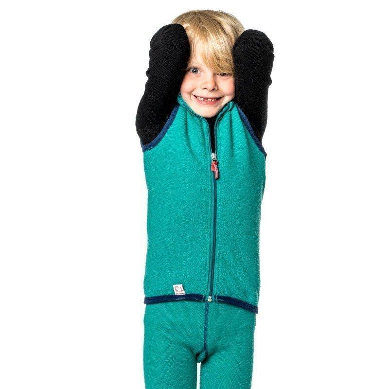 Woolpower Kids Vest 400 86-92 Turtle Green