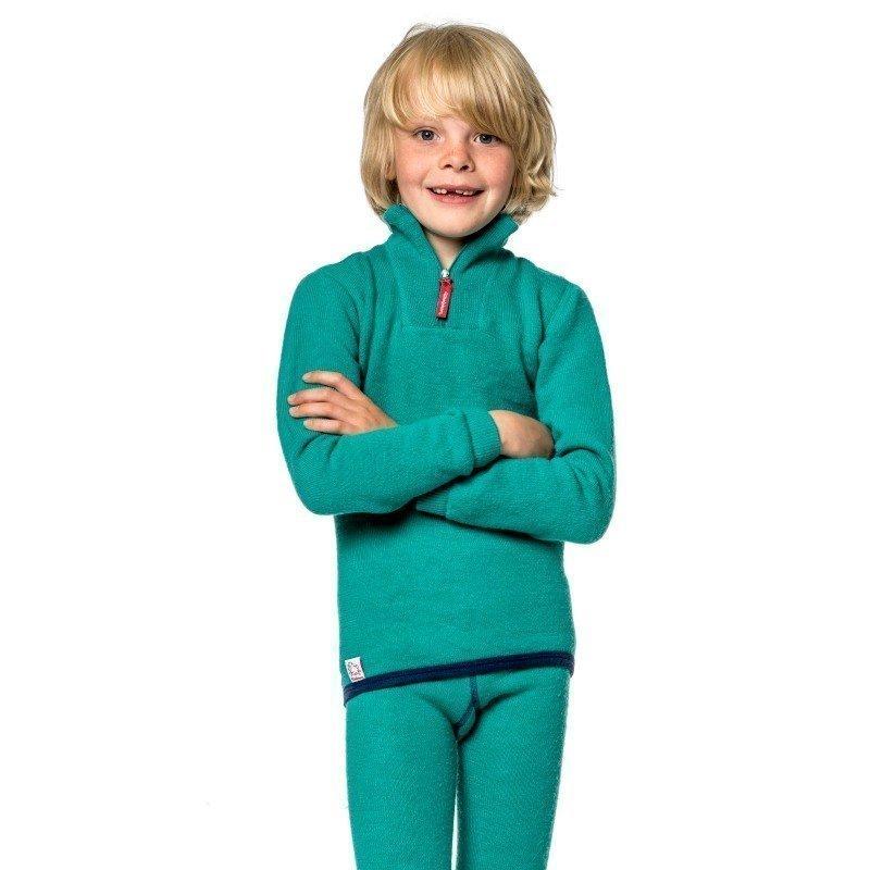 Woolpower Kids Zip Turtleneck 200 134-140 Turtle Green
