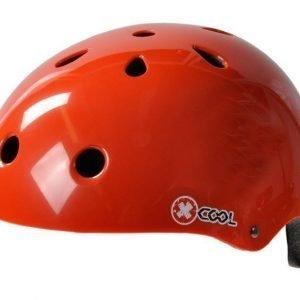 X-Cool punainen pyöräilykypärä säätöpannalla
