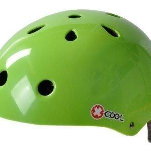 X-Cool vihreä pyöräilykypärä säätöpannalla