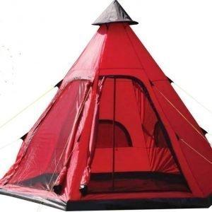 Yellowstone Festival Tipi Teltta neljälle hengelle Punainen