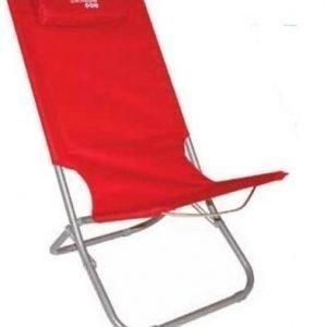 Yellowstone Lounger Chair taittuva rantatuoli punainen