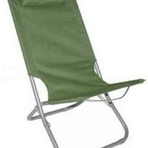 Yellowstone Lounger Chair taittuva rantatuoli vihreä