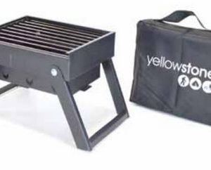 Yellowstone Mini Folding BBQ retkigrilli kantokassilla