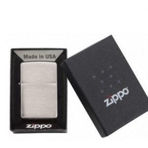 Zippo 200 Brushed Chrome sytytin